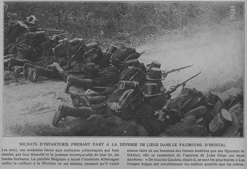 Belgian forces at Liege