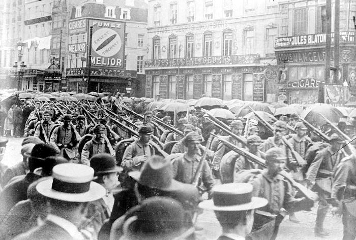 Brussels and German troops