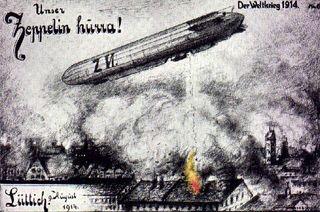 Zeppelin over liege
