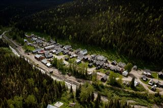 Barkerville Aerial - photo by Kent Kahlberg