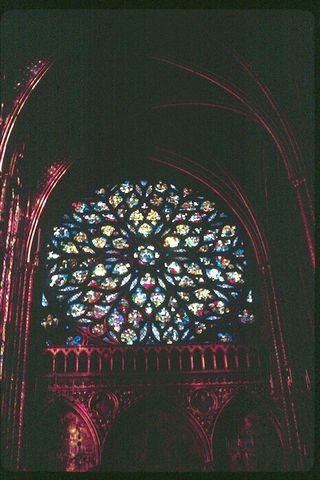 Sainte Chapelle Rose Windwo